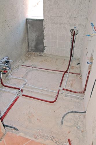 impianti bagno sotto pavimento
