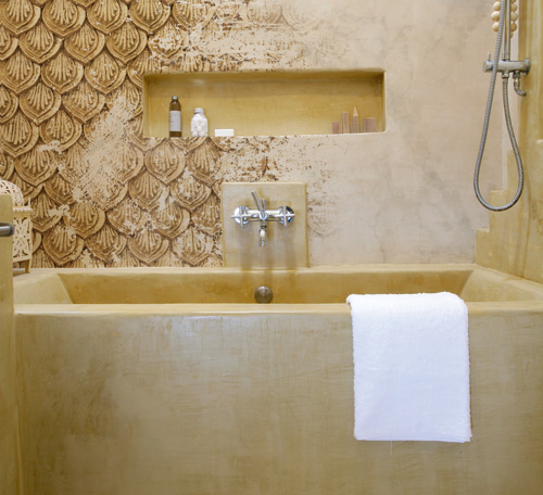 Carta da parati in bagno rifare casa for Carta parati bagno