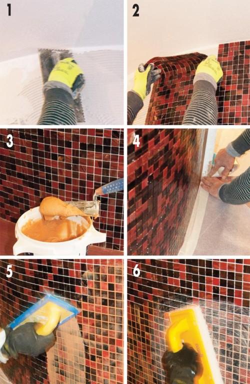 Piastrelle bagno moderno, piastrelle bagno, piastrellare il bagno
