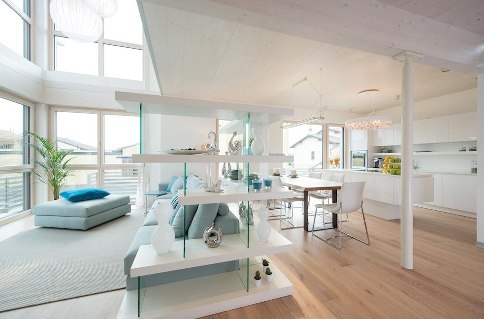 Griffner il piacere di abitare ha preso casa a crema for Case prefabbricate moderne interni