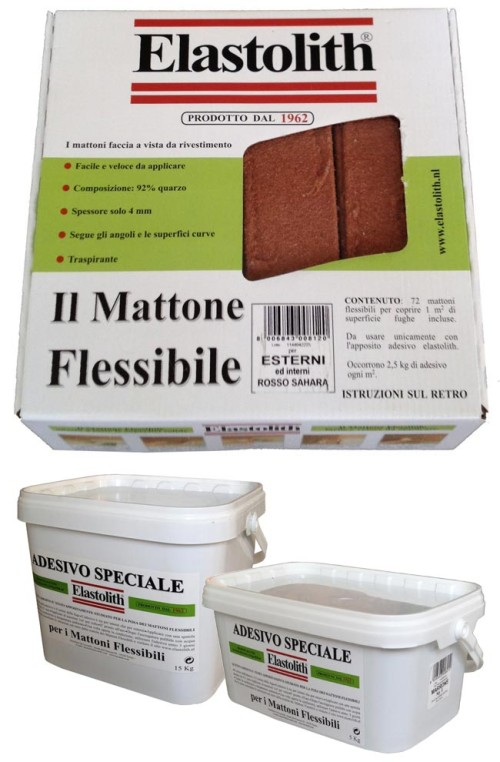Mattoni flessibili elastolith prezzo