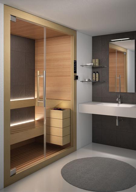 sauna finlandese biosauna e bagno turco insieme