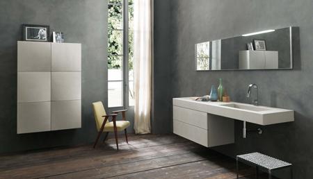 bagni-moderni-effetto-cemento - Rifare Casa