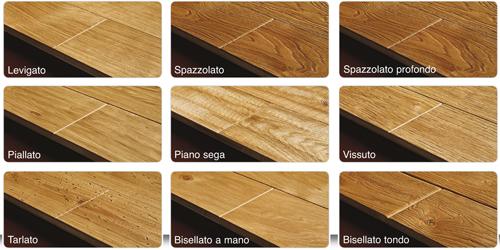 Parquet di legno lavorazioni