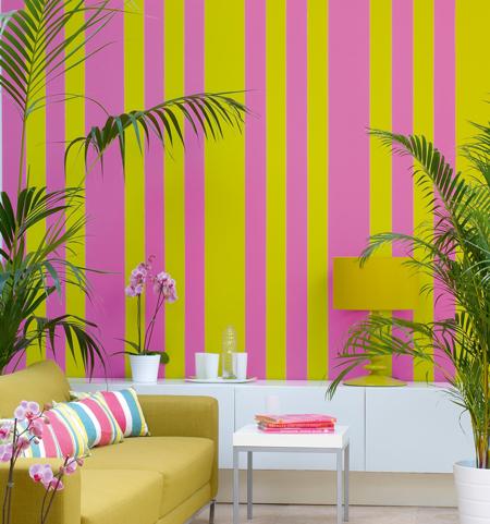 parete-a-righe-colorate