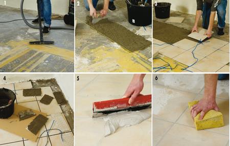 posa piastrelle pavimento