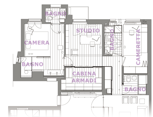 Ristrutturazione appartamento milanese rifare casa - Disposizione stanze casa ...
