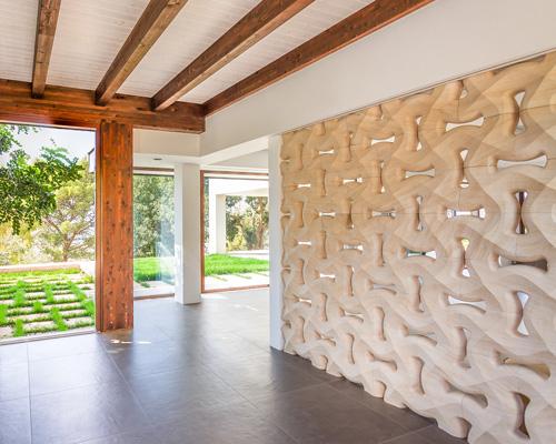 parete intreccio marmo