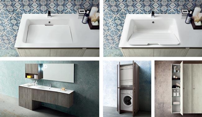 Collezione movida cerasa rifare casa - Bagno di servizio con lavanderia ...