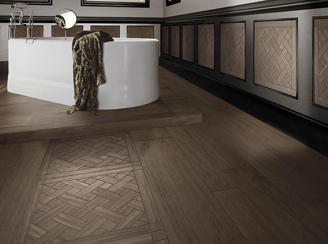 Gres porcellanato effetto legno rifare casa - Bagno finto legno ...