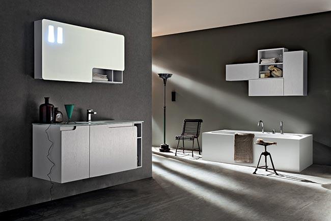 Il bagno moderno di cerasa rifare casa - Specchio per bagno moderno ...
