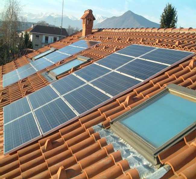 Pannelli fotovoltaici.