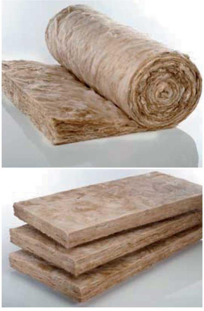 lana minerale di vetro con tecnologia ecose