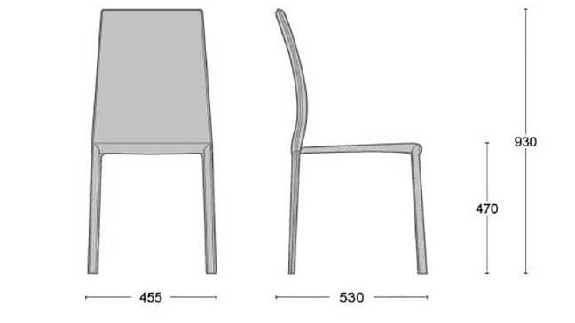 dimensioni sedia manila