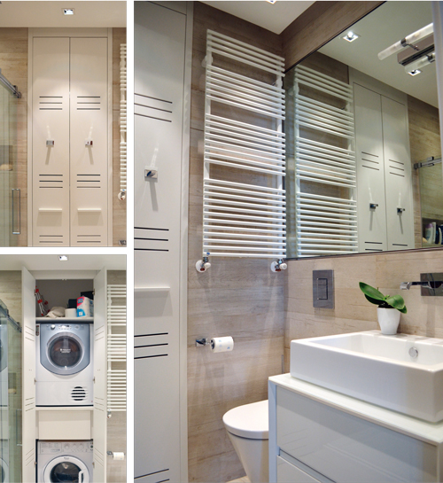 Antonio sabatino architetto aumentare gli spazi rifare casa - Bagno di servizio con lavanderia ...