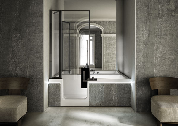 Vasca doccia combinata la soluzione per chi ha solo 1 bagno for Vasca e doccia combinate