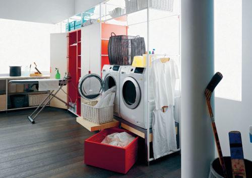 La lavanderia si adatta all'abitazione