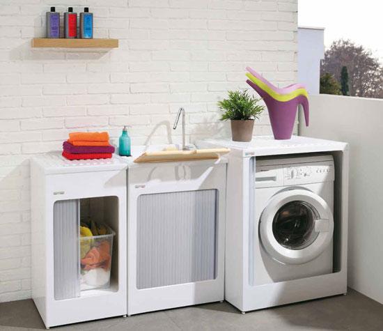 La lavanderia si adatta all 39 abitazione rifare casa - Lavatrice in bagno soluzioni ...