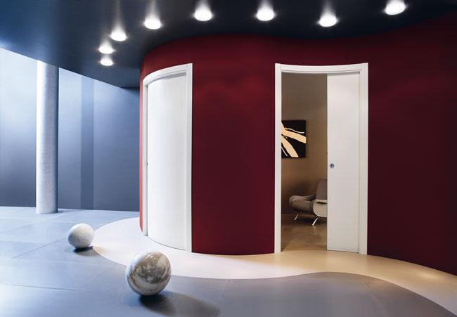 Porta scorrevole curva come installarla rifare casa - Porta per soffitta ...