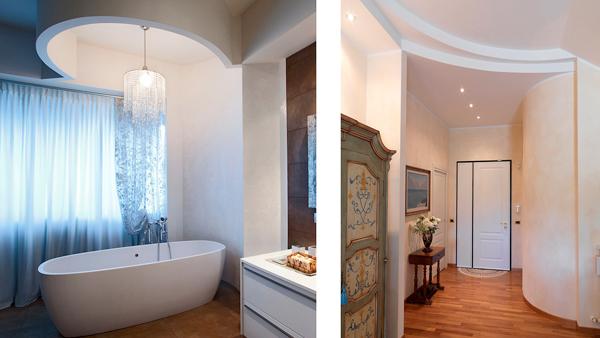 Cartongesso flessibile per strutture curve rifare casa - Illuminazione bagno soffitto ...
