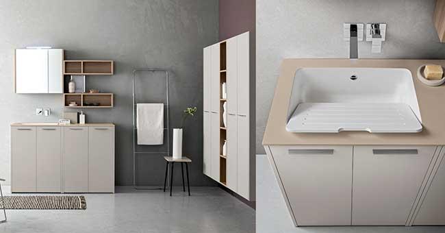 Mobili coprilavatrice e asciugatrice completa arredamenti - Mobili per lavatrici e asciugatrici ...