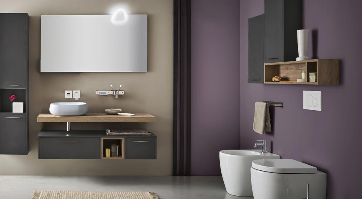 Bagno minimalista come realizzarlo con la collezione velvet di cerasa - Cerasa mobili bagno ...