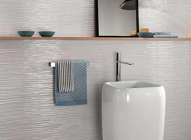 piastrelle bagno in ceramica moderne e alternative - rifare casa - Piastrelle X Bagni Moderni