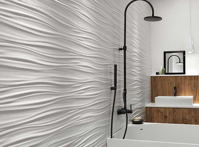 piastrelle bagno in ceramica moderne e alternative - rifare casa - Bagni Moderni Mattonelle