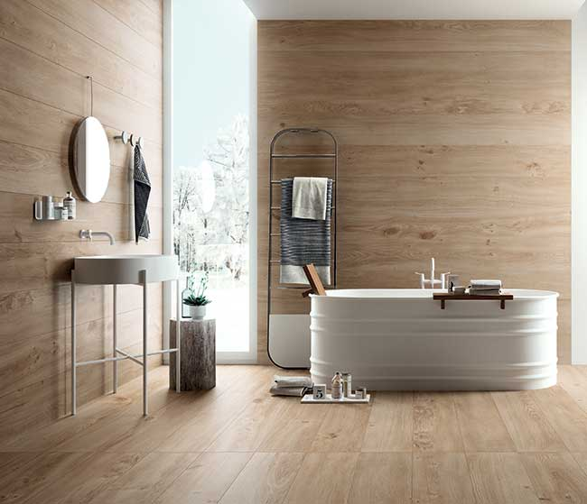 Piastrelle bagno in ceramica moderne e alternative for Piastrelle decorate bagno
