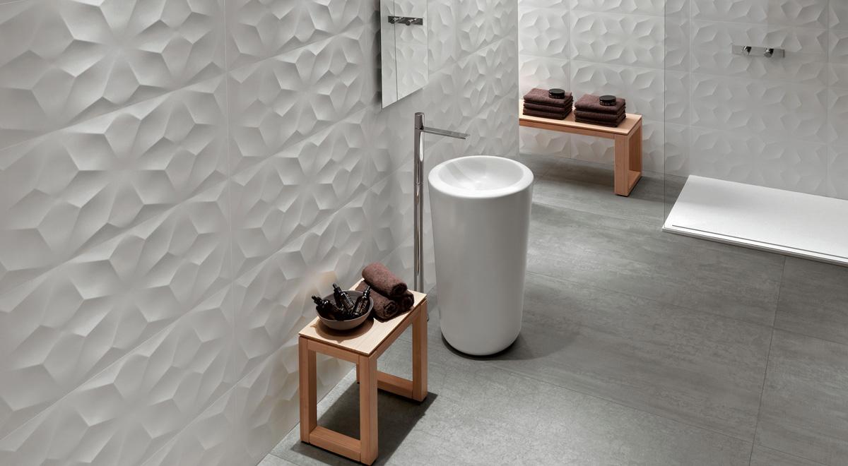 Piastrelle bagno in ceramica moderne e alternative for Piastrelle bagno bianche e nere