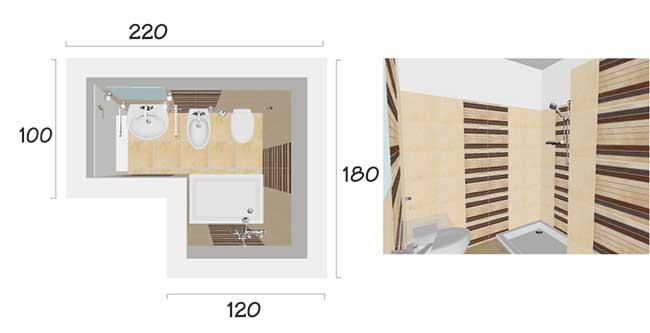 Dimensioni minime bagno come gestire al meglio lo spazio for 2 piani letto 2 bagni