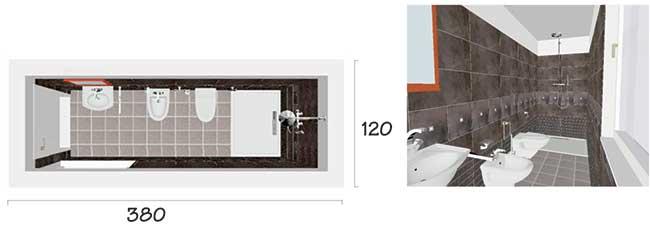 Dimensioni minime bagno lungo rifare casa - Dimensioni minime bagno in camera ...