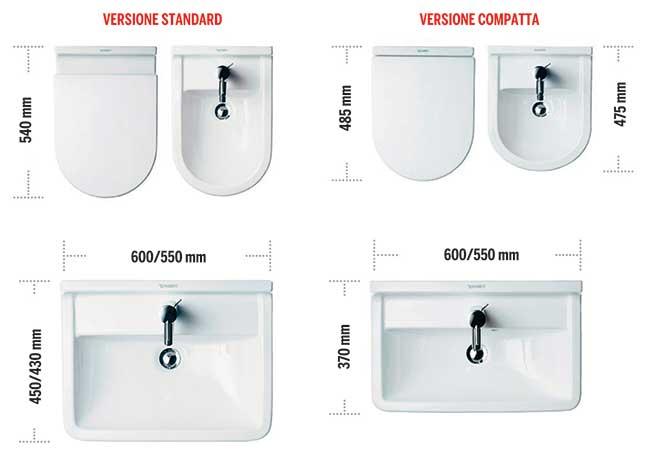 Dimensioni minime bagno come gestire al meglio lo spazio - Dimensioni sanitari bagno piccoli ...