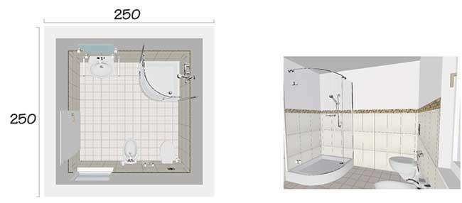 Dimensioni minime bagno spazioso rifare casa - Misure impianto idraulico bagno ...