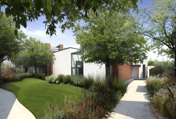 Villa moderna con giardino paghera rifare casa for Piante di ville moderne