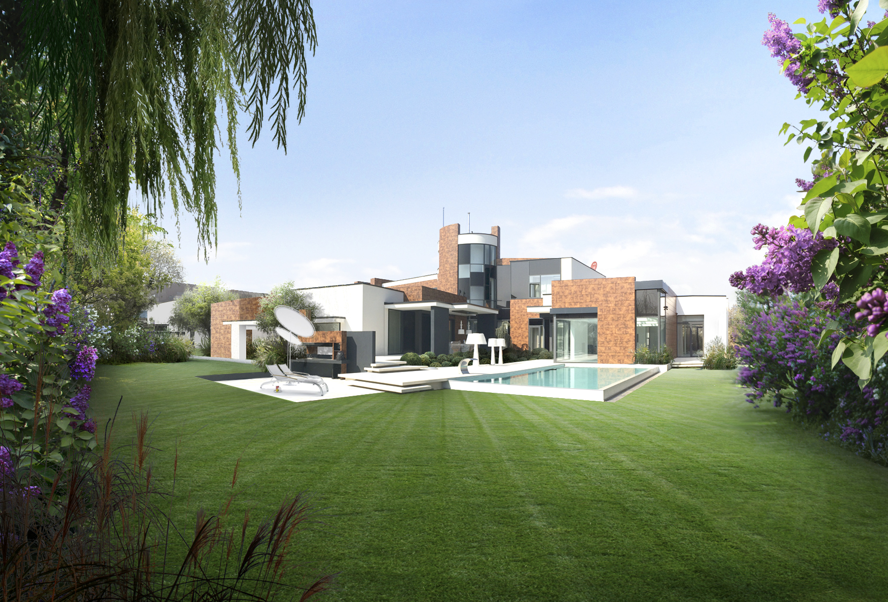 Villa moderna con giardino paghera rifare casa for Paghera giardini