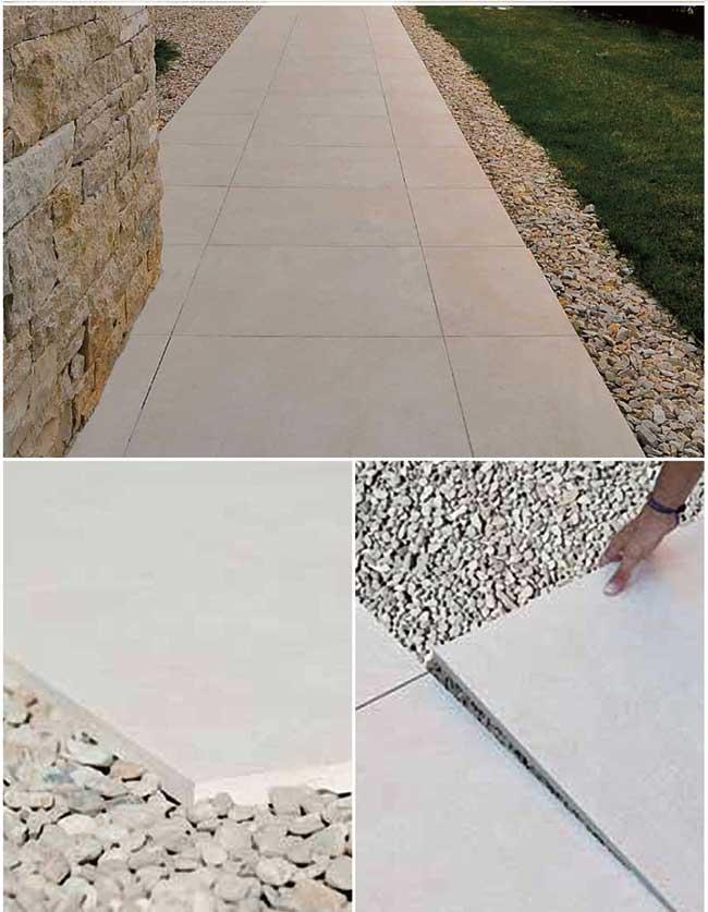 Pavimenti per esterni tipi di posa e scelta materiali - Piastrelle posa a secco ...