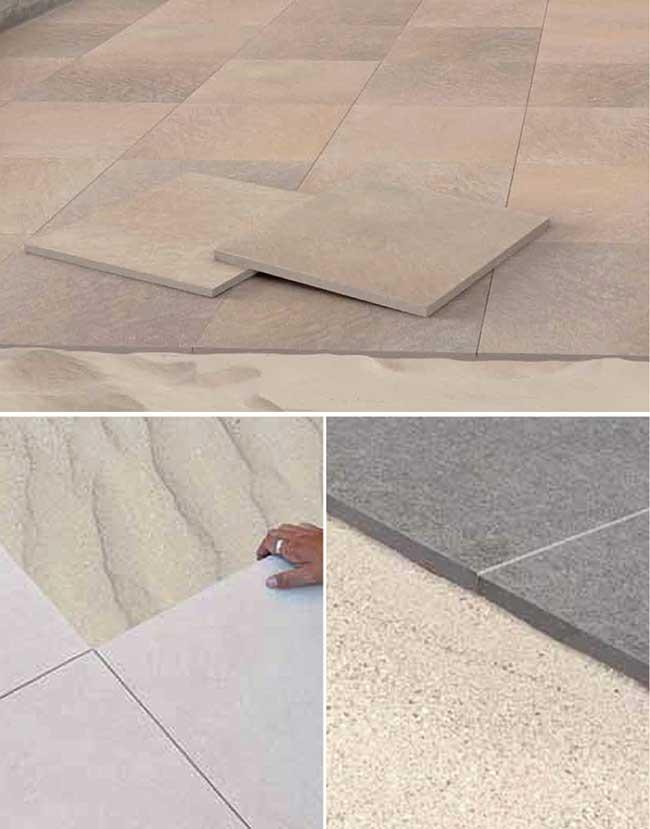 Per questo tipo di posa occorre seguire un simile a quello per gli luarea da pavimentare - Tipi di piastrelle per pavimenti ...