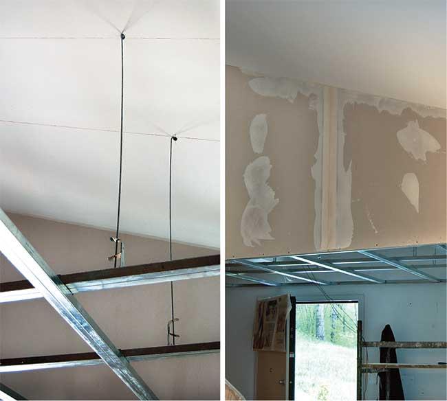 Soffitti in cartongesso con faretti abbassamento su pi - Abbassamento del tetto in cartongesso ...