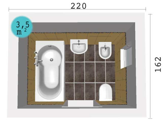 Dimensioni standard bagno fabulous mobile bagno energy cm marrone con inserti bianchi doppio - Dimensioni standard bagno ...