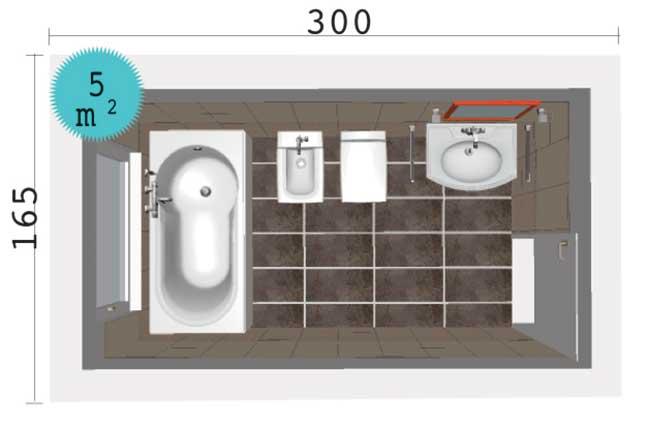 Ristrutturazione bagno come disporre i sanitari rifare casa - Come sbiancare i sanitari del bagno ...