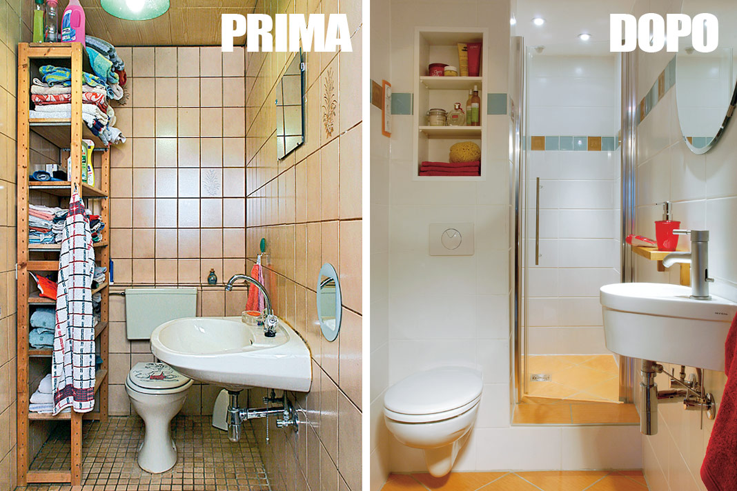 Bagno piccolissimo con doccia progettazione e idee rifare casa - Idee per rivestire un bagno ...