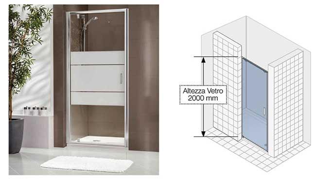 Pareti Per Doccia In Vetro : Pareti doccia walk in a soffietto attrezzate e su misura