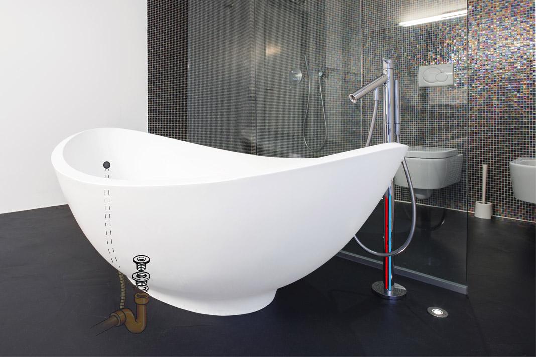 Vasca Da Bagno Su Misura Prezzi : Bagno con vasca freestanding moderna rifare casa