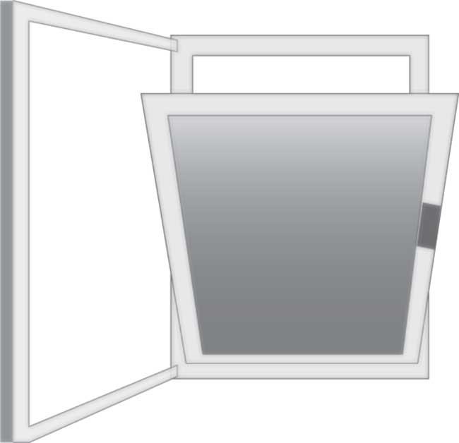 finestra ad anta oscillo-battente