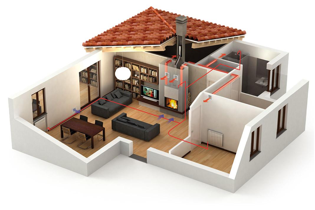 Caminetti Ad Aria Canalizzata.Riscaldamento Ad Aria Canalizzazione E Umidificazione Rifare Casa