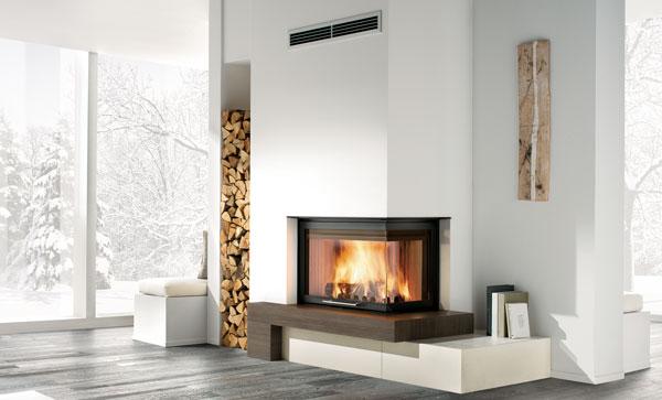 Caminetti a legna e pellet caratteristiche e prezzi - Caminetti moderni a parete ...