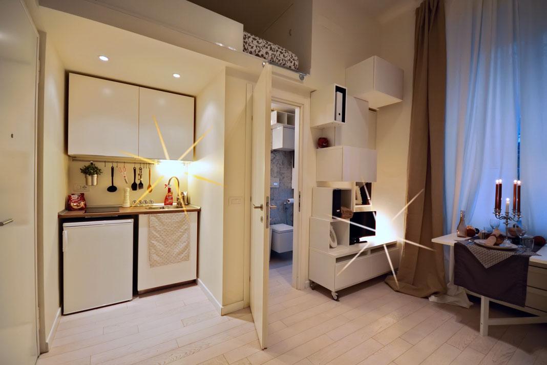 Mini appartamento come ottenerlo da una galleria d 39 arte for Mini appartamenti arredati giugliano