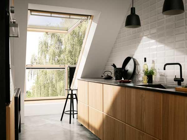 cucina-mansarda - Rifare Casa