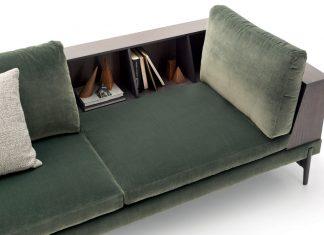 divano con libreria